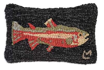 Steelhead Trout Wool Pillow