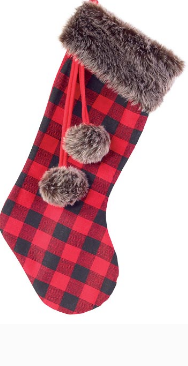 Red and Black Buffalo Plaid Stocking