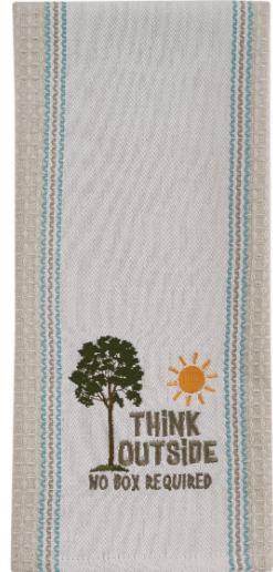 Think Outside Embroidered Towel