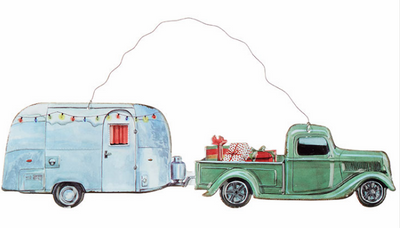 Holiday Truck and Camper Wall Hanging