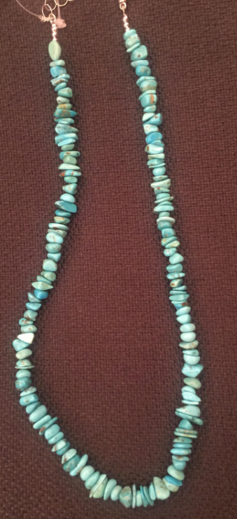 Royal Beauty Turquoise Chip Necklace (N-1963)