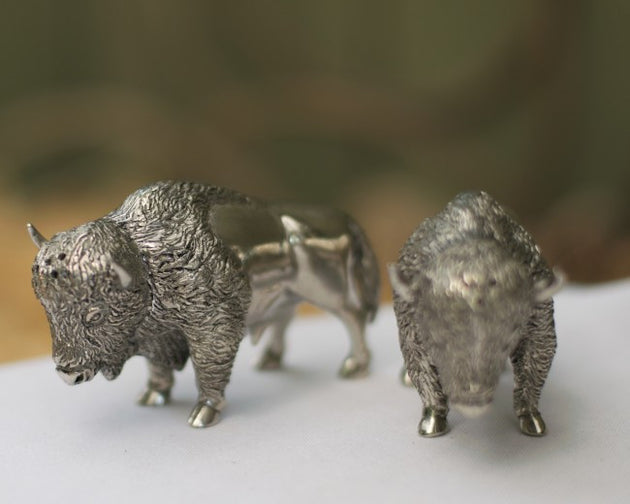 Bison Salt and Pepper Shakers