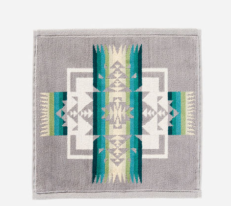 Chief Joseph Jacquard Wash Cloth (Grey)