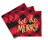 Buffalo Check Holiday Napkins