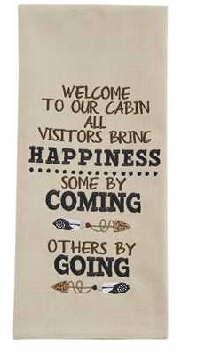 Welcome Visitors Dish towel