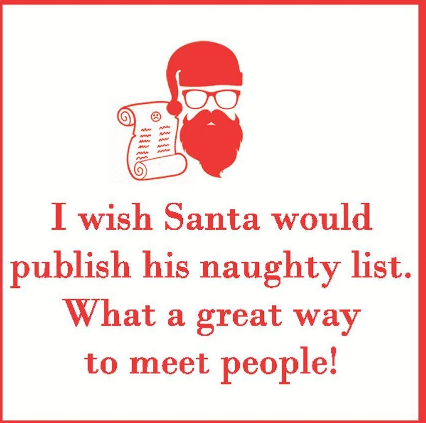 Naughty List (Beverage Napkin)