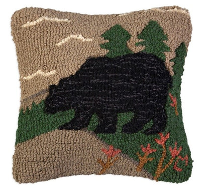 Woodsy Bear Wool Pillow