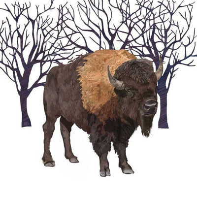 Winter Buffalo (Beverage Napkin)
