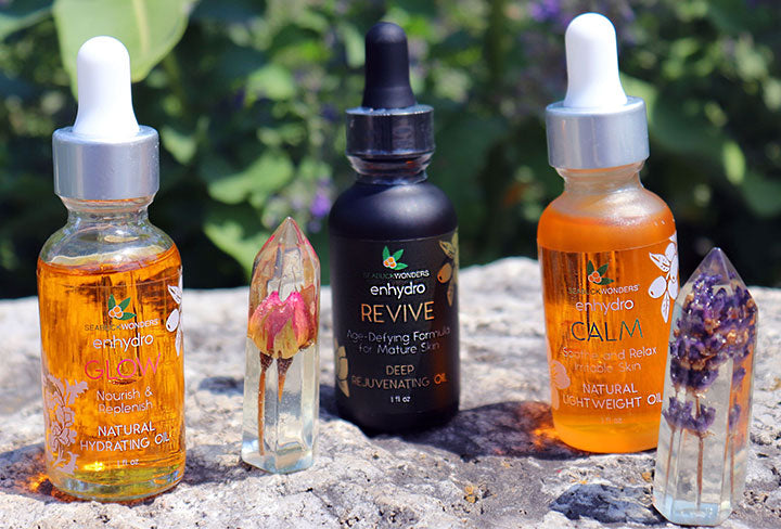 At Home Spa Treatments with Enhydro Facial Oil Serums