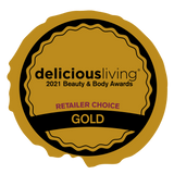 2021 Delicious Living Delicious Living Beauty & Body Awards Winner  Facial Moisturizer Category:  Gold Consumer Choice & Gold Retailer Choice