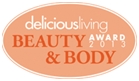2013 Delicious Living Beauty Award Logo