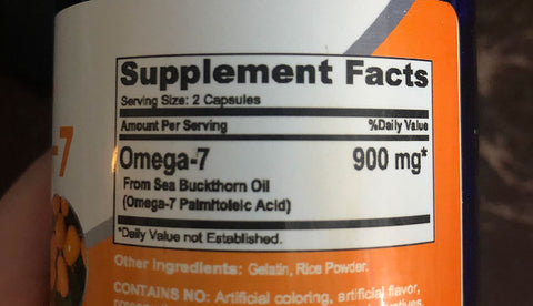 Fake Sea Buckthorn Omega 7 Product