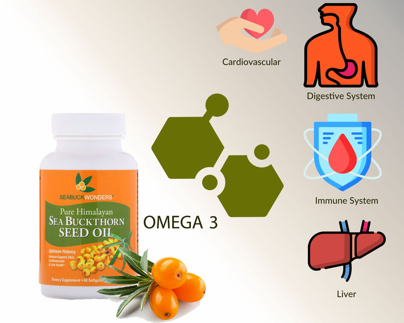 Sea Buckthorn Seed Oil Softgels - SeabuckWonders sea buckthorn products