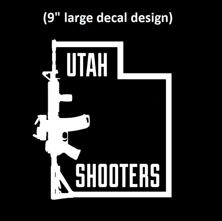 Utah shooters vinyl decal