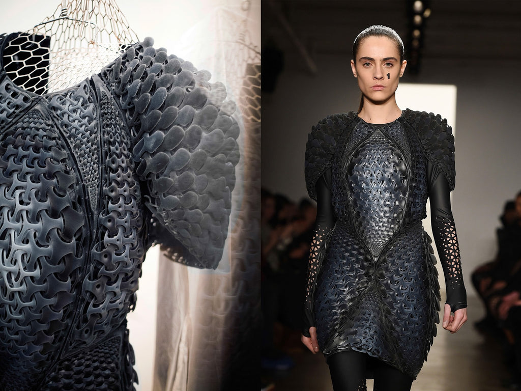 Pangolin 3d printed dress on runway travis fitch fitchwork ProductPhotoImg