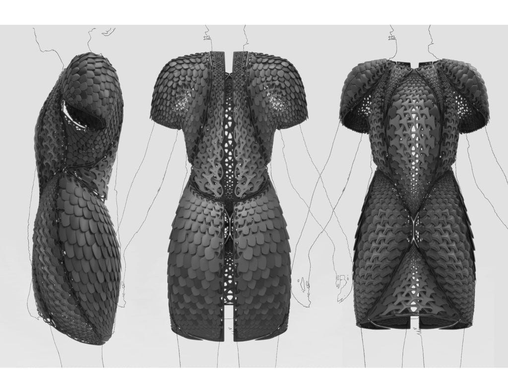 pangolin 3d printed dress design renderings travis fitch fitchwork ProductPhotoImg