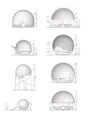 Projection Pod Section Drawings