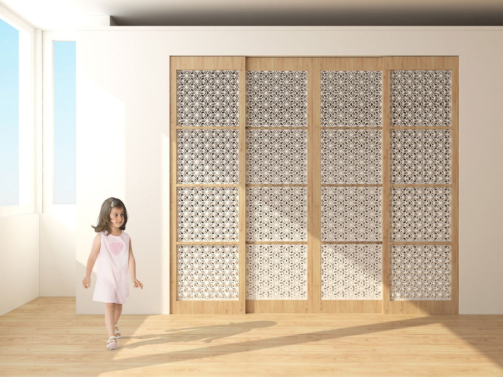 Sliding Wood door with 3D printed screen and shadow ProductPhotoImg