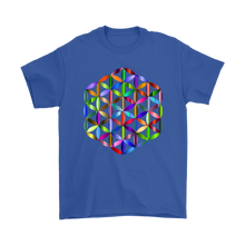 Vibrant, Colorful Rainbow, Flower of Life Mandala T-Shirt for Men