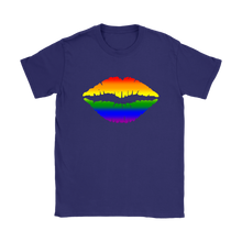 Rainbow Lips Artistic Freedom Women's T-Shirt