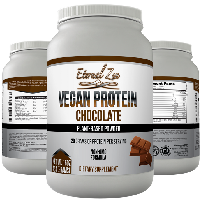 Vegan Protein Powder - Chocolate - Ready for Pre-order, Ships in two weeks!