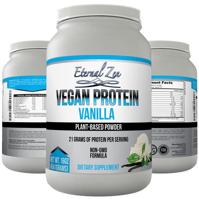 Vegan Protein Powder - Vanilla - Pre-order yours today! Ready to ship in two weeks
