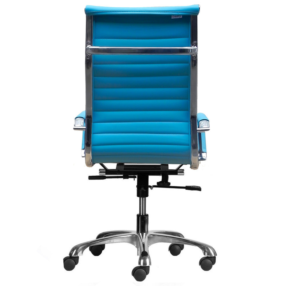 Teal office chair - Bikey Ultimate Collection High Back Leather Executive Office Chair Aqua