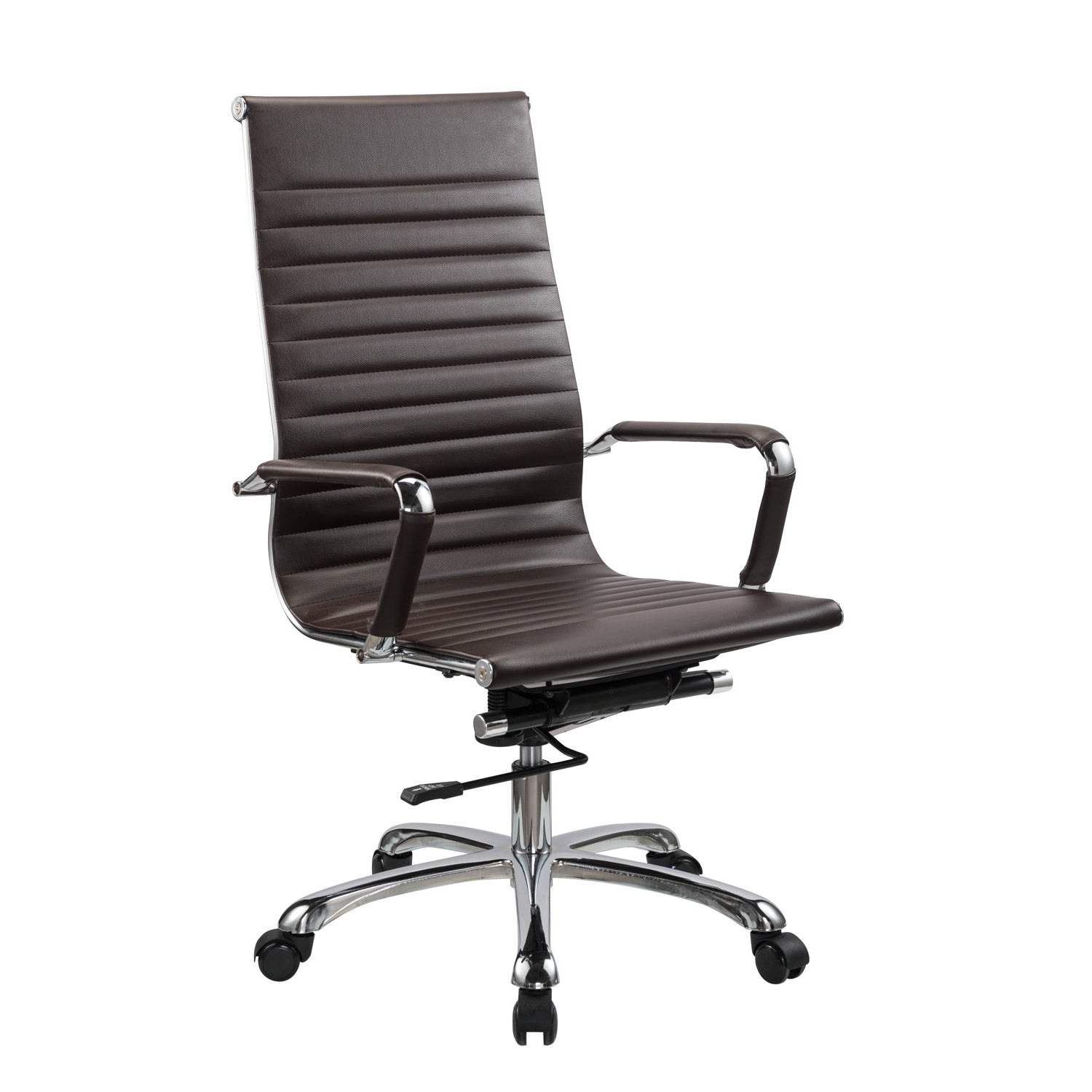 bikey nova collection high back leather executive office chair