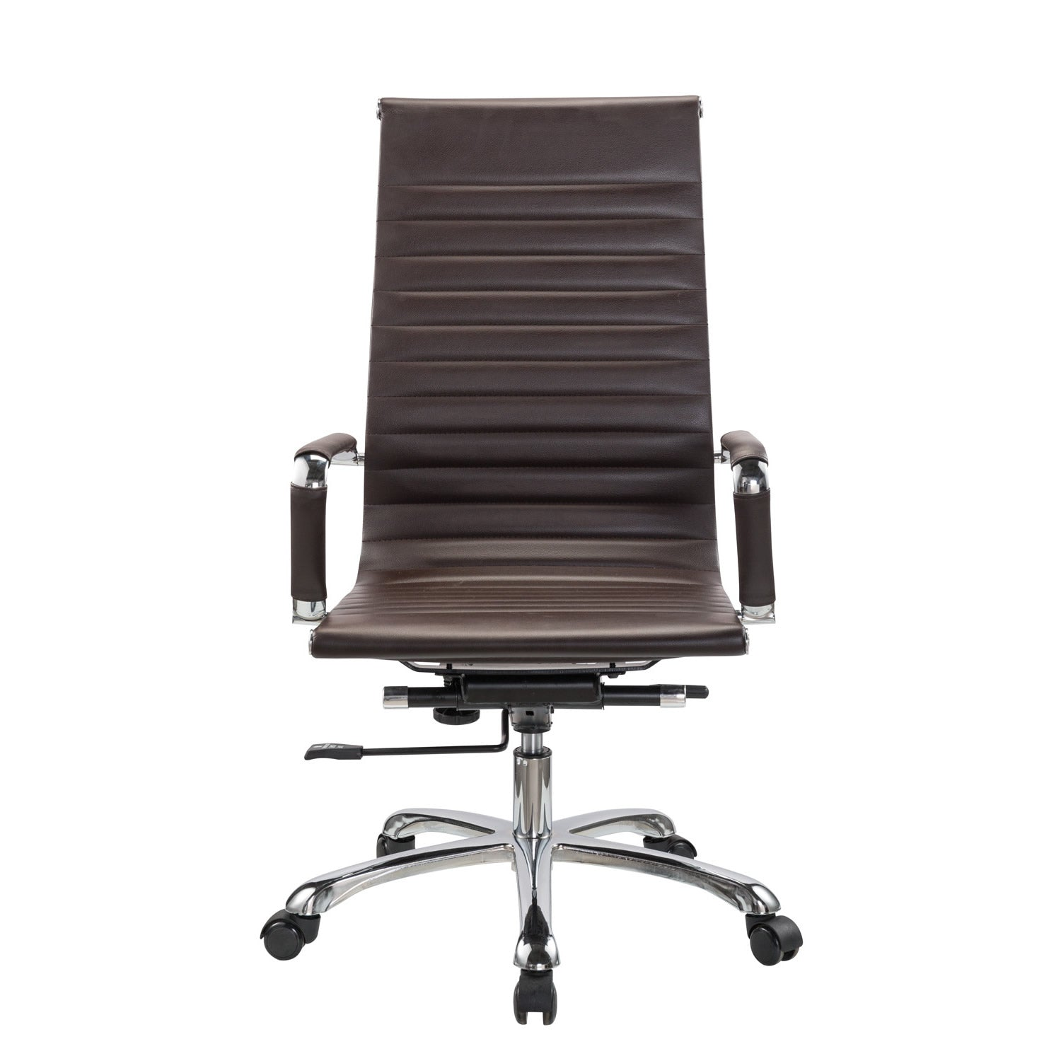 Bikey Nova Collection, High Back Leather Executive Office Chair (Brown)