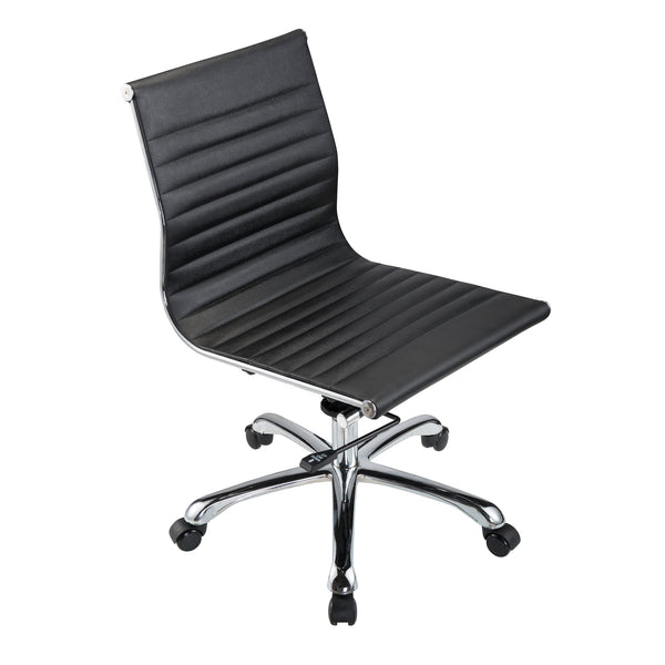 bikey premium collection mid back armless leather conference office