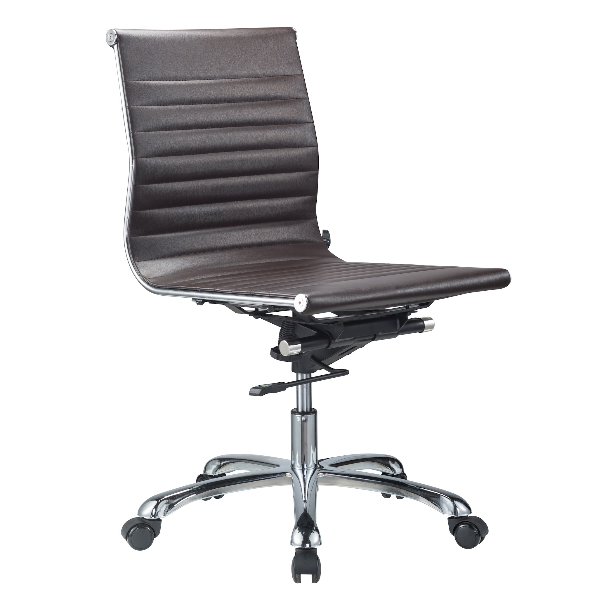 Bikey Nova Collection Mid Back Armless Leather Conference fice
