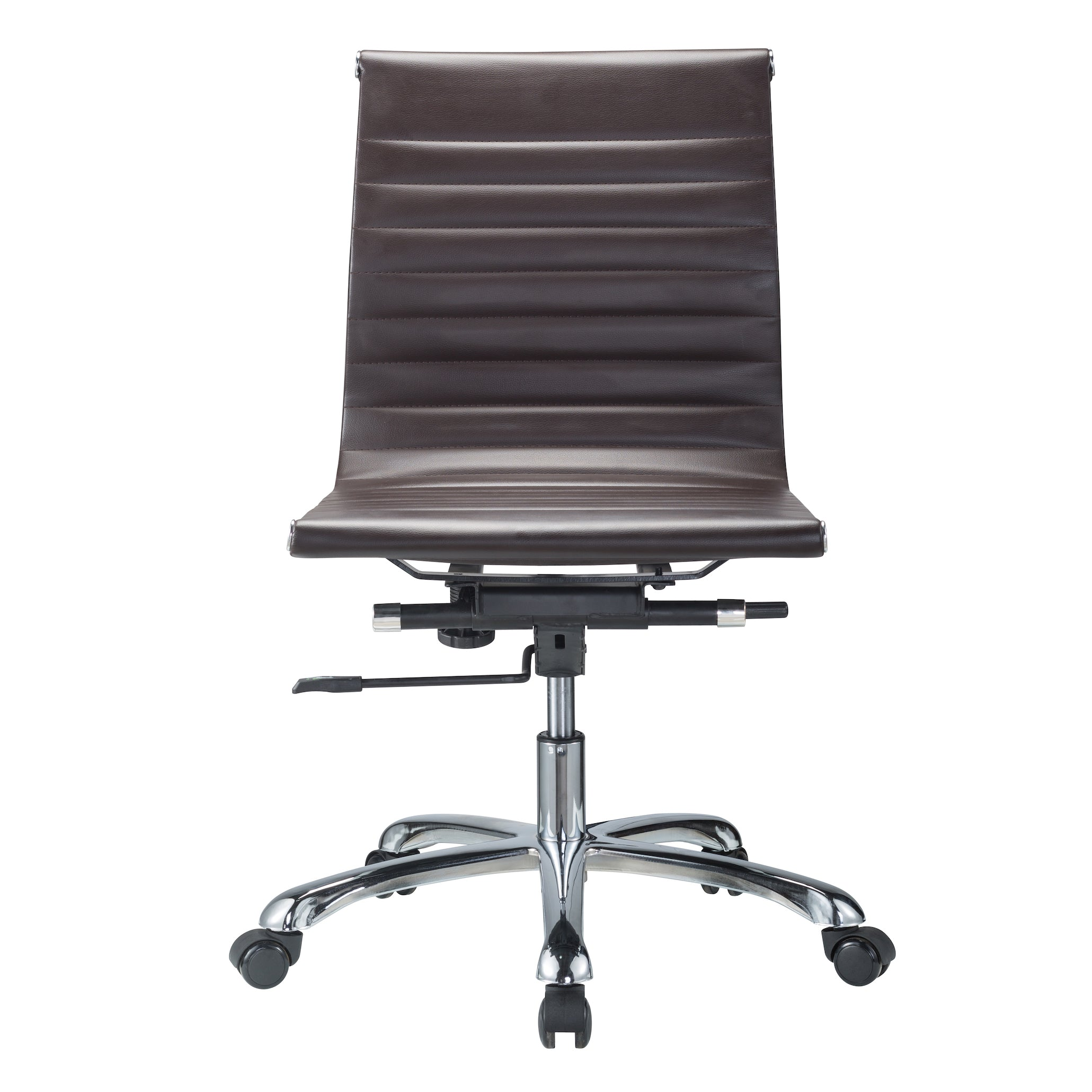 office leatherette modern chairs conferece chair glider by conference white armless and zuo