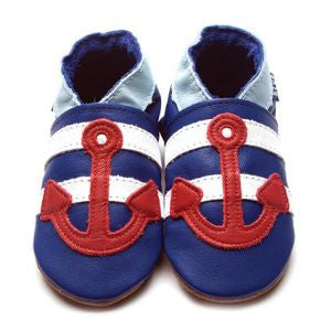 Inch blue Anchor Sailor Baby Shoes