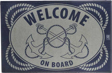 Marine Business Non Slip Mat - Anchors Welcome