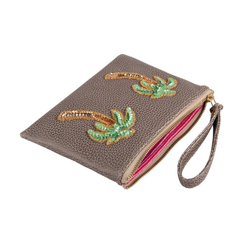Tea & Tequila Coffee Palm Clutch - Small