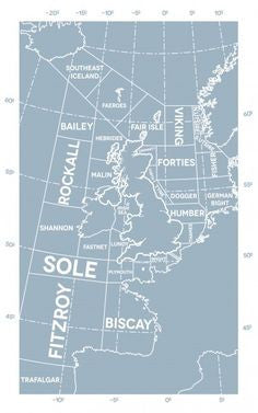 Tabitha Mary Shipping Forecast Regions Print