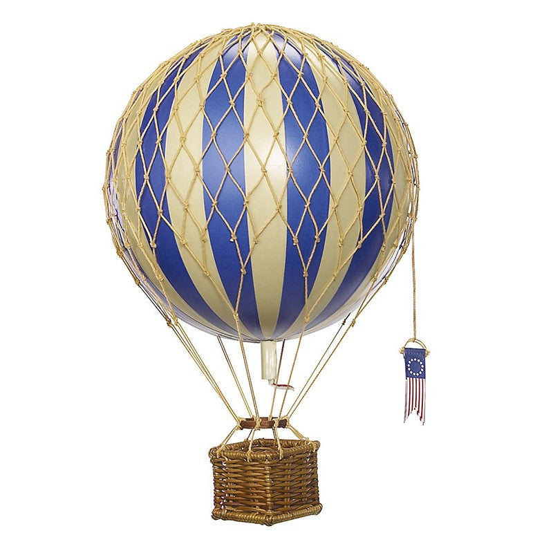 Hanging Hot Air Balloon - Blue (medium)