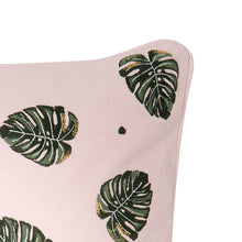 Elizabeth Scarlett Jungle Leaf Cushion - Rose