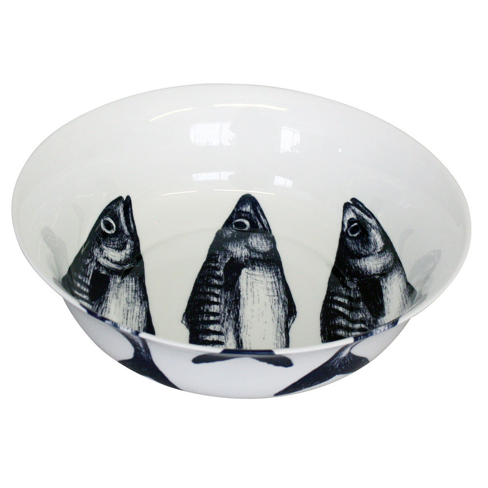Cream Cornwall Mackerel Serving Bowl