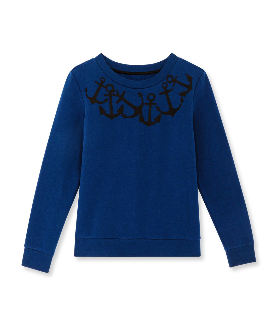Petit Bateau Women's Embroidered Sweat Shirt - Anchors