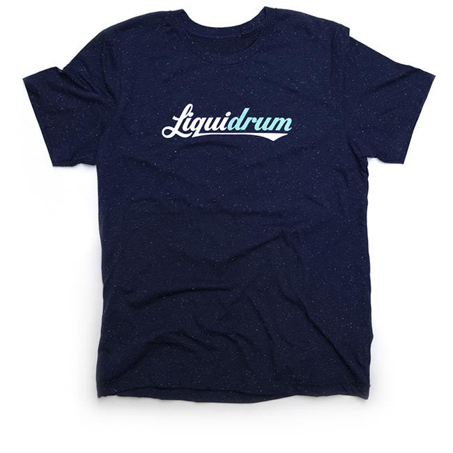 Navy Speckled Logo Tee