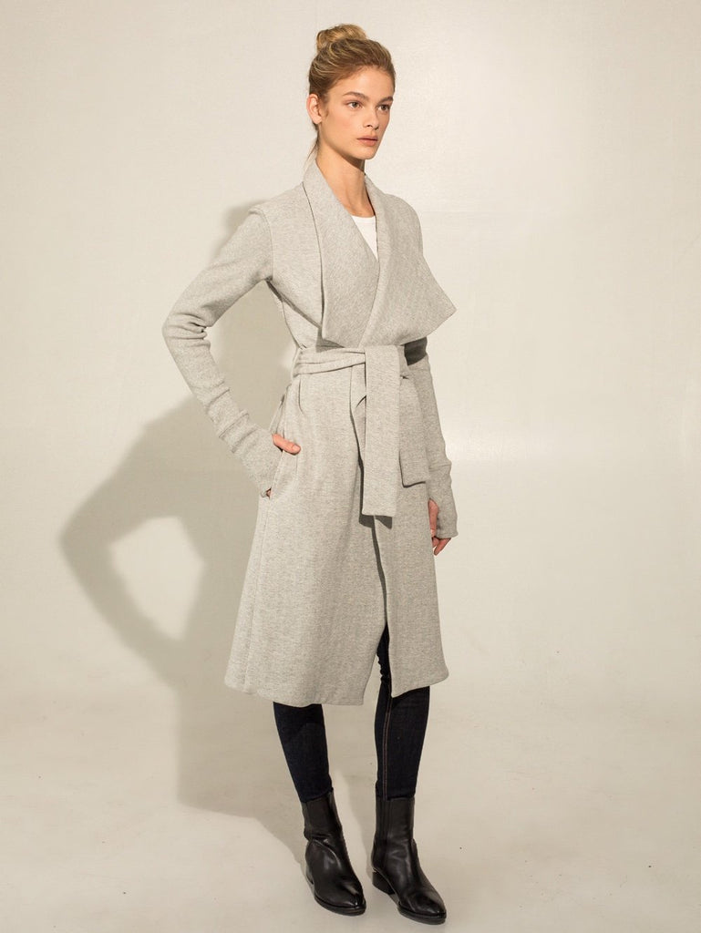 Two Bits Equestrian Wrap Coat Gray