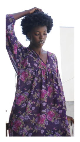 Recycled Fabric Ynez Floral Dress