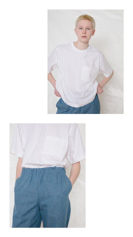 Recycled Fabric Boxy T-Shirt