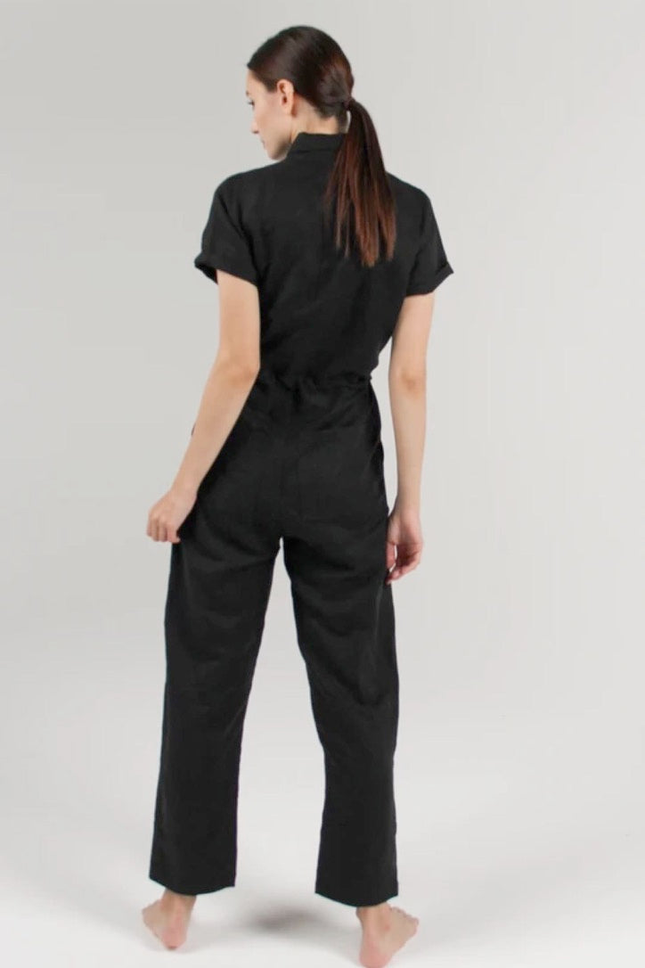 Flight Jumpsuit Black