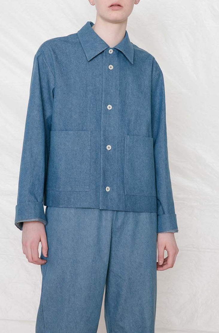 Hiyo Coat Blue Denim