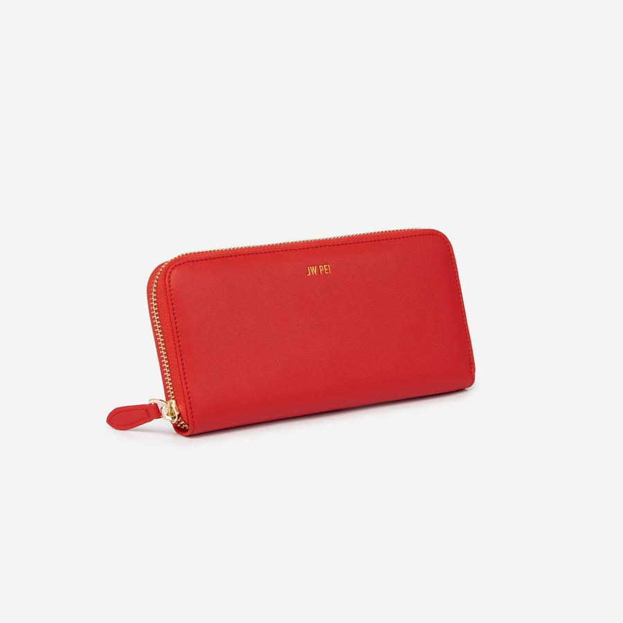 Zipper Wallet Red