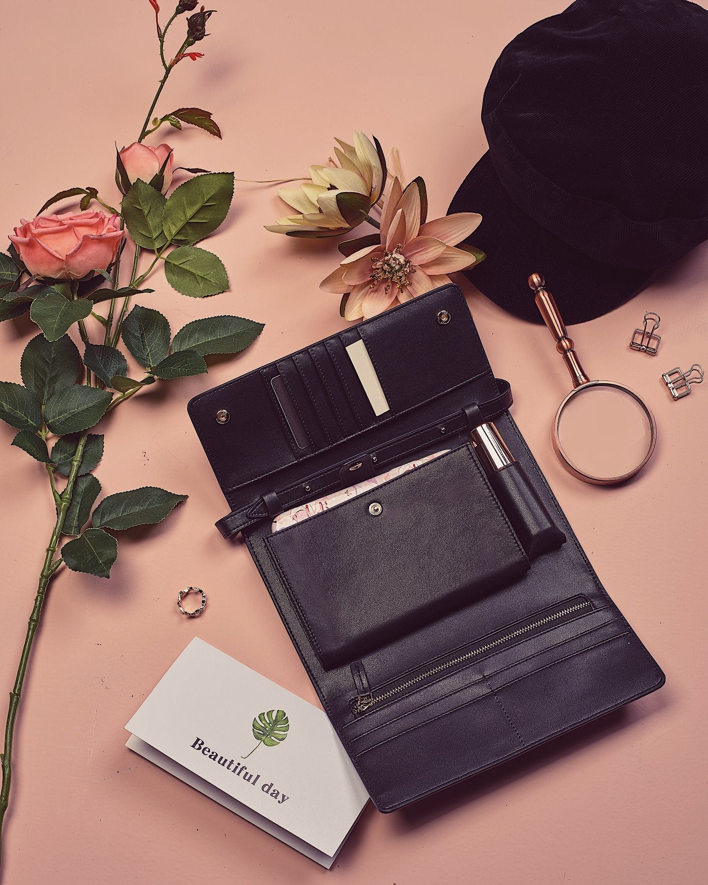 Flap Wallet Black