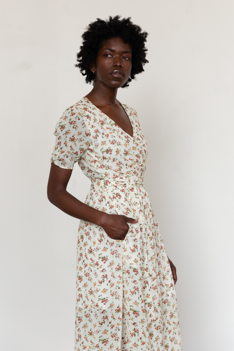 Damaris Wrap Dress Floral