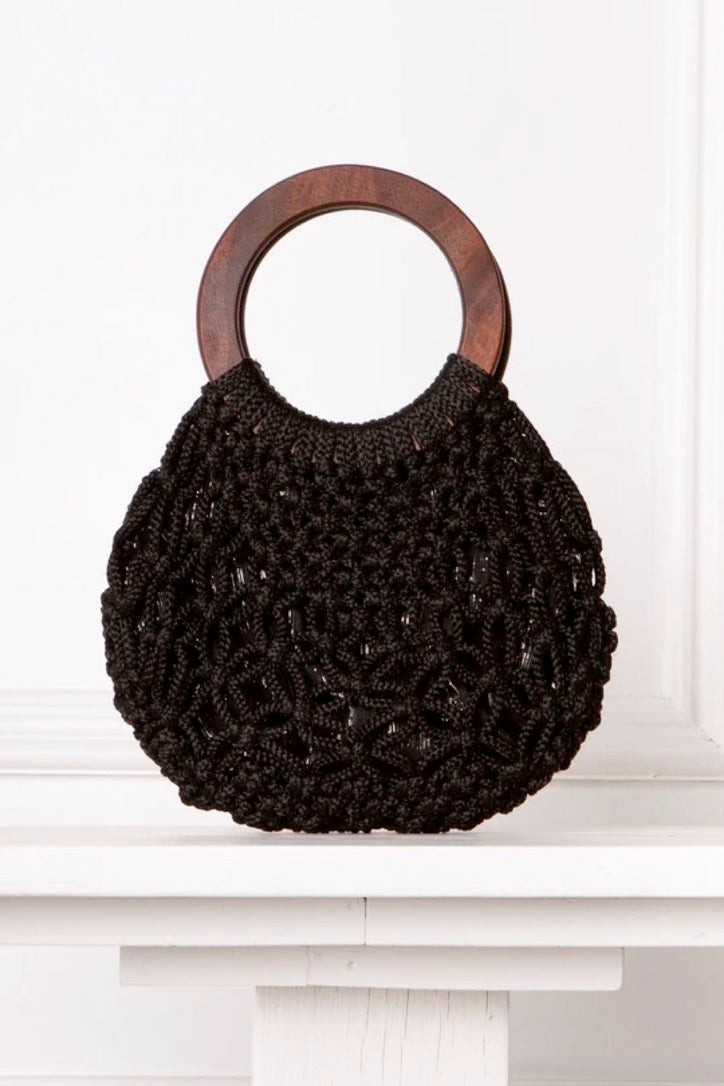 Anna Macrame Bag Black